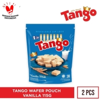 WAFER TANGO POUCH VANILLA 125GR [ISI 2PCS]