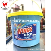 Sabun Cream WINGS BIRU W5 EMBER | Sabun Krim Colek WINGS Deterjen W 5