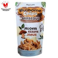 Mushome Chips - Keripik Jamur Tiram Barbeque - 80gr