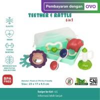 IQAngel 6in1 Teether & Rattle Toys / Rattle Tangan dan Teether Bayi