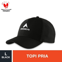 Eiger T12S-6079 Baseball Cap - Black L / Topi Pria