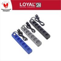 Stop Kontak + Kabel 1.5M OSAKA 6 Lubang (LY-206) SNI