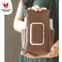 TECHNOZIO Tempat Tissue Pouch 5 In 1 Urat Coklat / Sarung Tisu
