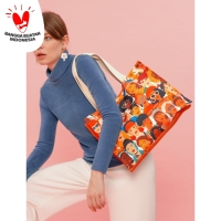Tivoli Tote Bag Strong Woman Tas Pundak Kerja Belanja Besar Handbag