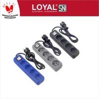 Stop Kontak + Kabel 1.5M OSAKA 4 Lubang (LY-204) SNI