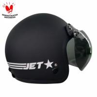 Helm Retro Jet-Star Line Furnish Black Doff