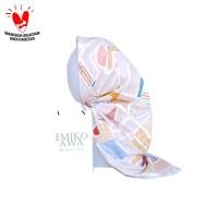 Jilbab Segiempat MotifPinkBilla - Emikoawa Keudung Voal Hijab Premium