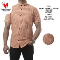 Kemeja pria stripes lengan pendek motif salur garis baju cowok