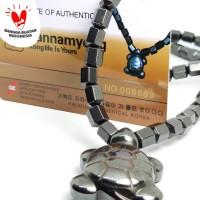 Kalung Kesehatan Bio Energi Ginsamyong Hematite Stone