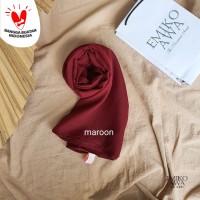Pashmina Polos Basic Premium - Emikoawa Hijab Kerudung Scarf Korea