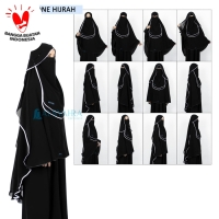 Bundling Niqab All In One Hijrah Alsyahra Exclusive Sifon Silk 9 Style