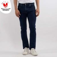 Edwin Celana Jeans Slim Fit Pria Panjang Medium Dark blue LA 03 - Biru, 32