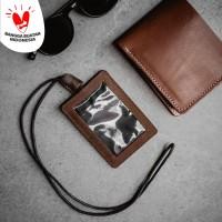 LTHRKRFT ID CARD HOLDER GENUINE LEATHER - NAMETAG KULIT ASLI