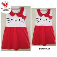 DSKDHK20 - Dress Anak Tanktop Hello Kitty Ribbon Red