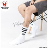 Kaos kaki Adidas Solid Crew Pria dan Wanita Hype , Olahraga , Casual