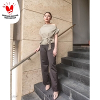 Premium Long Cullotes Celana Panjang Wanita JP247 - M, Hitam