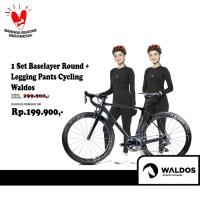 1 Set Baselayer Manset + Legging Pants Wanita Sepeda Cycling Bike