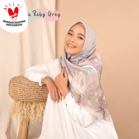 Novella Scarf   Mecca in Baby Grey (Superfine Voal Hijab Kerudung)