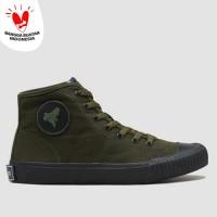 BRODO - Sepatu Vulcan Hi Olive Black BS - 38