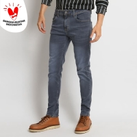 VENGOZ Celana Jeans Skinny Pria - Lite Grey
