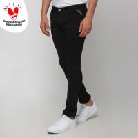 Boy London Celana Jeans Pria Original - Black Slim Fit