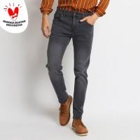 VENGOZ Celana Jeans Skinny Pria - Dark Grey Wash