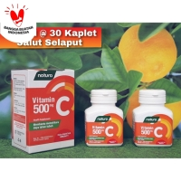 Vitamin C 500mg - Menjaga Daya Tahan Tubuh - 2 Botol @ 30 Kaplet SS