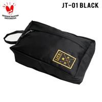 JFR Tas Kantong Pouch Bag Bahan Polyester JT01 Black