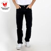 Edwin Celana Jeans Vegas Black Reguler Fit Pria Panjang Black