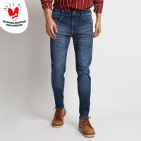 VENGOZ Celana Jeans Skinny Pria Premium - Blue Whisker
