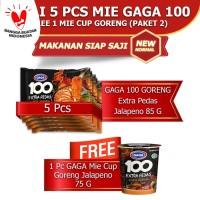 GAGA100 Extra Pedas Goreng Jalapeno, Mie Cup Goreng Jalapeno (kode2)