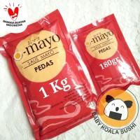 MAYO PEDAS OMAYO 1 Kg | Spicy Hot Mayonnaise | Saus Sambal Mayonaise
