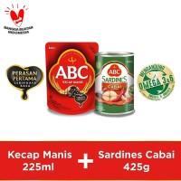 Bundling ABC Kecap Manis 225ml & Sarden Saus Cabai 425g