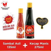 Bundling ABC Sambal Asli 135ml & Kecap Manis 275ml