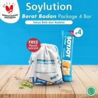 Soyjoy Soylution Jaga Berat Badan Package 4 Bar - White Macadamia