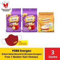 PSBB Energen Paket Sehat Bernutrisi Bersama Energen Free Masker Dewasa