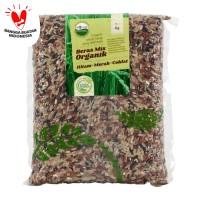 Lingkar Organik - Mix Wholegrain Hitam-Merah-Coklat 1kg - Beras Campur