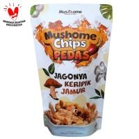 Mushome Chips - Keripik Jamur Tiram Pedas - 80gr
