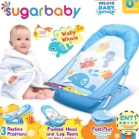 Sugar Baby Deluxe Baby Bather blue - bangku mandi bayi