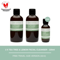 Sensatia Botanicals Tea Tree & Lemon Facial Cleanser Twin Pack