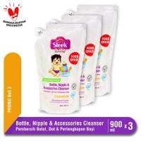 Sleek Bottle Nipple & Accessories Cleanser Pouch 900 mL isi 3