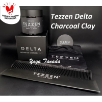 Pomade Tezzen Delta Activated Charcoal Clay Matte (FREE SISIR CARBON)