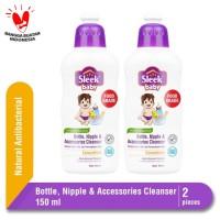 SLEEK BABY BOTTLE NIPPLE & ACCESSORIES CLEANSER BOTOL 150 ML Twinpack