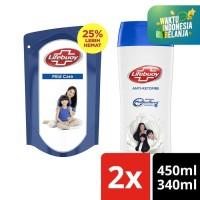 Lifebuoy Shampoo Anti Dandruff 340Ml & Sabun Cair Mild Care 450Ml