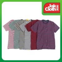 Kaos Garis Lengan Pendek Katun Stripes Unisex Premium Quality XXXL