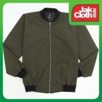 Hommes Apparel Jaket Bomber Polos Hijau Army HM 117 Premium Quality