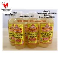 TONER Obat Jerawat BRAGG Cuka Apel Botol Flip 100ml Ratio 1:2 (Aqua)