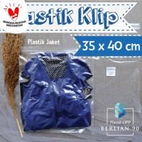 35x40 CM PLASTIK KLIP / PLASTIK CLIP / PLASTIK ZIPLOCK BENING ISI 100