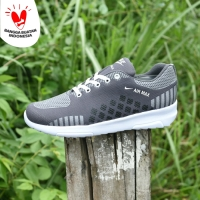 Sepatu Sport Pria Nike Zoom Grade Ori Abu Abu Running Surabaya - NZ 01
