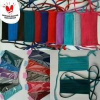 Masker Kain Polos Warna Warni Tali Panjang/Masker Hijab/Masker Motor